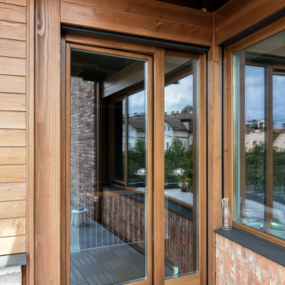 3 ferestre lemn aluminiu